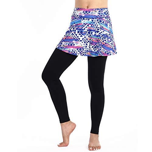 ings Long Pants for Women, Capri Tennis Skirted Leggings with Colorful Skorts Pants& Women Tennis Skirted Pants(Color-Length,L) ()