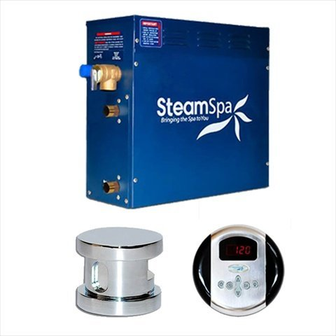 Steam Spa OA600CHC Oasis Complete Package with 6kW Steam Generator, Chrome