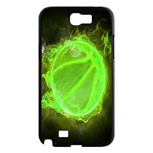 ZK-SXH - Fire basketball Personalized Phone Case for Samsung Galaxy Note 2 N7100, Fire basketball Customized Cell Phone Case