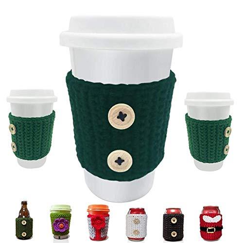 crochet coffee cup sleeve - 2