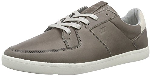 Boxfresh Cladd Grey White Mens Leather Trainers Shoes JA1pQnW