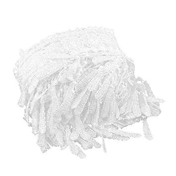 DealMux poliéster Presente da família de embalagem Quilt Borda costura Decor guarnição 8.7 Yards Branco
