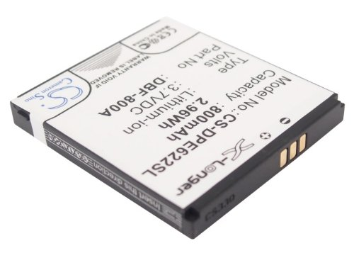 Replacement Battery 800mAh/2.96Wh Rechargeable Battery for Doro PhoneEasy - Replacement Battery Mah 800