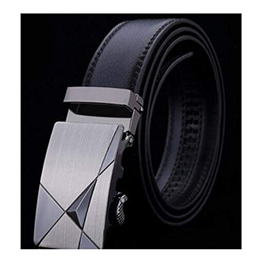 Ford Racing Belt Buckle - Mens Genuine Luxury Leather Business Belts Strap Male Metal Automatic Buckle