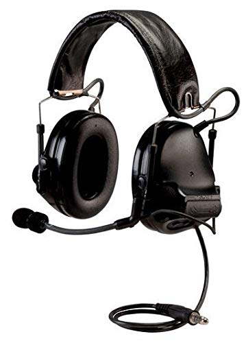 3M PELTOR ComTac ACH Communication Headset MT17H682FB-49 SV, Dual Comm, Single Downlead, Flexi Boom Mic, Black