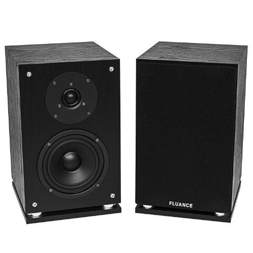 Fluance SX6-BK High Definition 2-Way Bookshelf Loudspeakers-Black Ash