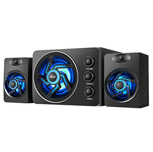 CJSPEAKER PC Speaker with Colorful LED Light USB Powered Desktop Computer Speaker with Subwoofer Perfect Gaming Stereo…