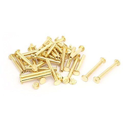 Ucland Binding Screws M5x40mm Binding Chicago Screw Posts Gold Tone 30pcs for Photo Albums Scrapbook