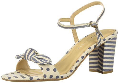 CL by Chinese Laundry Women's Jaylie Heeled Sandal, Blue Linen, 9 M US