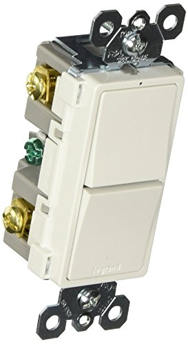 Legrand - PASS & SEYMOUR RCD11WCC6 15A White 2 Single Pole Decorator Switch (15a Single)