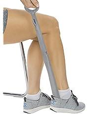 Vive Long Handled Shoe Horn (23 Inch) - Plastic Shoehorn for Men, Women and Kids - Adjustable Extended Reach Assist - Large Dressing Aid, Sock Remover for Seniors, Elderly, Disabled - Longhandled Tool