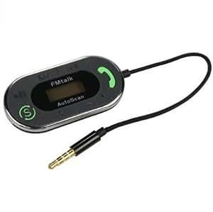 Fonus Multi-Channel Hands Free Talk Autoscan Car Radio Fm Transmitter for AT&T LG E900h, LG Encore, LG Escape, LG Nitro HD