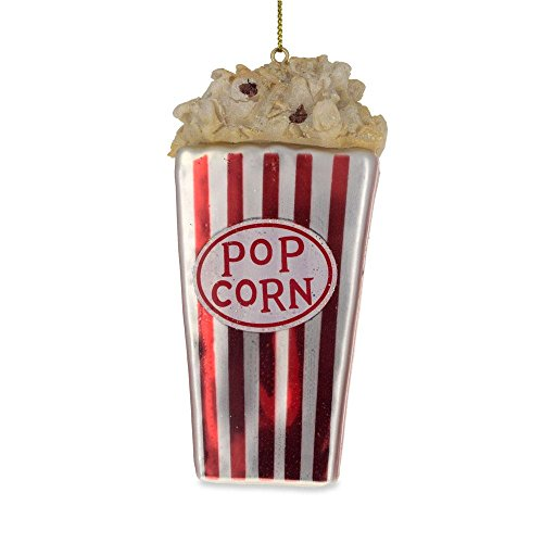 4″ Popcorn for Movie Lover Blown Glass Christmas Ornament