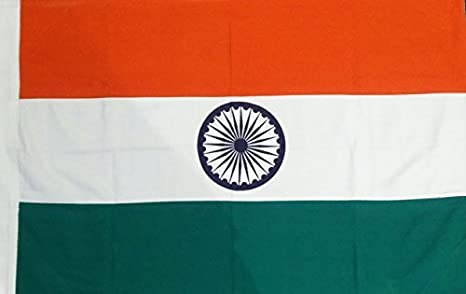 Khadi Bhavan And Handloom House Indian National Flag Outdoor Of Size Of 2x3 Ft In 100 Pure Cotton With Rope Toggle Amazon In Garden Outdoors