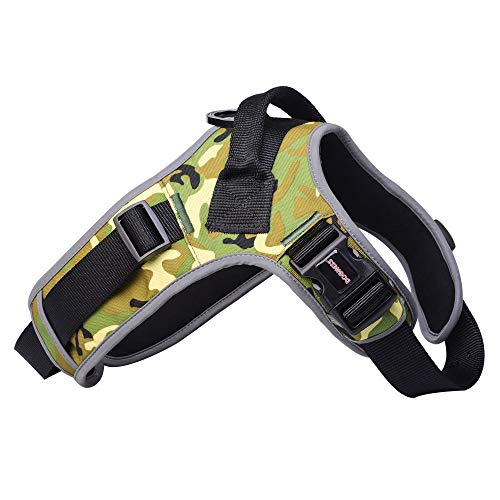 DOGNESS Dog Harness Camo Series - Size XS/S(Suit for Dog 25lbs/12kg or Below) with Double Woven Ribbon Design, Super tensile Strength - Color Green - Matching Collar/Leash Sold Separately