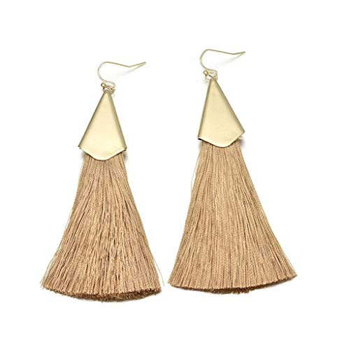 - Thread Tassel Earrings for Women Long Fringe Drop Dangle Earrings Bohemian Dangle Gifts for Her