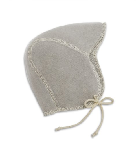 LANACARE Organic Wool Baby Cap, no lace, Soft Grey, size 86 (1-2 yr)