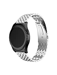 Welcomeuni FASHION 20MM Stainless Steel Bracelet Watch Band Strap For Samsung Galaxy Gear S2 Classic SM-732 (SL)