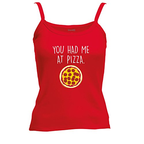 Brand88 - You Had Me At Pizza Chaleco De Verano Mujer Rojo/Blanco