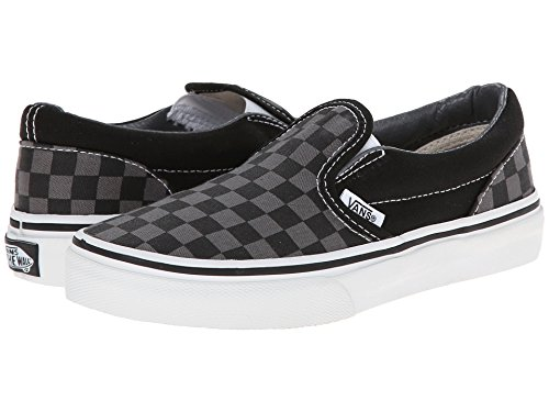 Tm on Black Vans Core Classics Slip Checkerboard Pewter EqX55xUrw