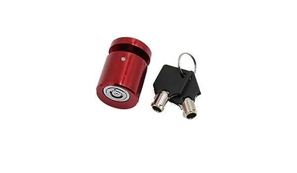Amazon.com: eDealMax Rojo Vespa de la motocicleta de Freno de rueda Anti ladrón de bloqueo de seguridad de Disco w 2 Llaves: Electronics
