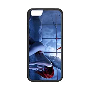 Iphone 6 Girl Phone Back Case DIY Art Print Design Hard Shell Protection HG082058