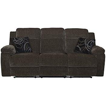 New Classic U4050 30 EBO Burke Dual Recliner Sofa, Ebony