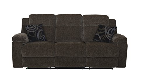 New Classic Furniture U4050-30-EBO Burke Dual Recliner Sofa, Manual, - Ebony Sofa