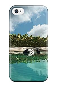Hxy XahDQdo2662kbRvE Case Cover Iphone 4/4s Protective Case Island