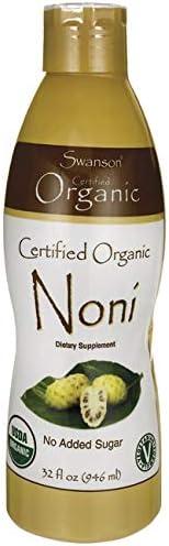 Swanson Certified Organic Noni 32 fl Ounce 1 qt 946 ml Liquid