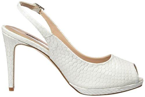 Calzados Marian 64202, Sandalias de Tacón Mujer Blanco