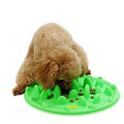 ZGY Silicone Anti-choke Slow Interactive Feeder Bowl for Dog Cat Cute Travel Feeding Mat Green