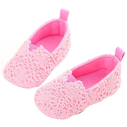 Omiky® Art und Weise Baby-Säuglingskind-Mädchen-weiche alleinige Krippe-Kleinkind-Neugeborene Schuhe Rosa