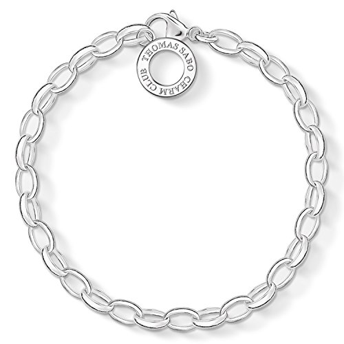 Thomas Sabo Plain Sterling Silver Charm Bracelet (Sabo Thomas Jewellery)