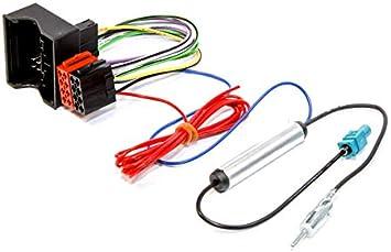 Sound-way - Cable adaptador de conector ISO, adaptador de antena Fakra, radio compatible con Seat Alhambra, ToLEDO
