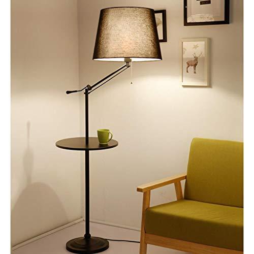 Coffee Table Floor Lamp Bedroom Living Room Study Sofa Simple Warm Creative Lamp Storage Vertical Table Lamp Disc Coffee Table Decorative Floor Lamp (Color : ()