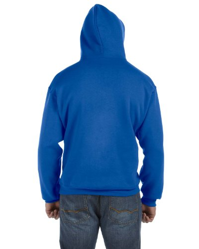 Fruit of the Loom 12 oz. Supercotton 70/30 Pullover Hood, XL, ROYAL