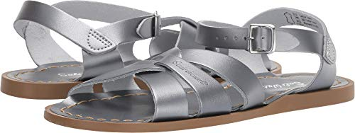 Salt Water Sandals by Hoy Shoes Girl's The Original Sandal (Big Kid/Adult) Pewter 4 M US Big -