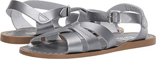 (Salt Water Sandals by Hoy Shoes Girl's The Original Sandal (Big Kid/Adult) Pewter 4 M US Big Kid)