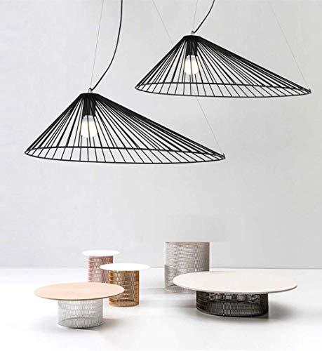 BOSSLV Creative Personality Pendent Lamp Iron Elegant Black 1-Light Highly Adjustable Pendant Lamp Parlor Dining Hall Villa Garden Art Ceiling Lighting 60Cm E27 Max 60W ()