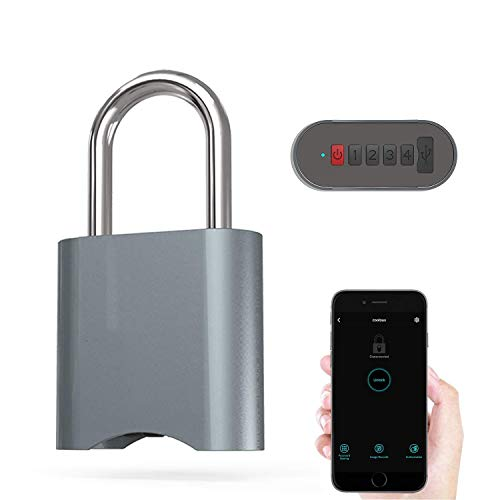 COOLOUS Smart Padlock Combination Padlock Bluetooth Connection APP Control Metal Keyless Luggage Gym Lock Support USB Charging