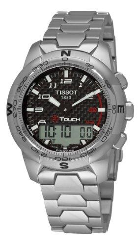 Chronograph 100m Watch Titanium Alarm - Tissot Men's T0474204420700 T-Touch II Black Chronograph Dial Watch