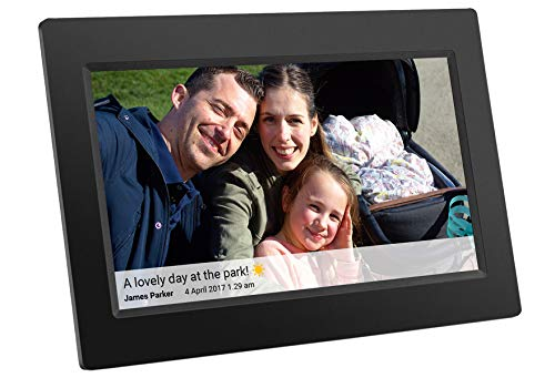 Feelcare 10 Inch 16GB Smart WiFi Digital Picture Frame with Touch Screen, 800×1280 IPS LCD Panel, Wall-Mountable, Portrait Landscape, Instantly Sharing Moments Anytime Anywhere(Black)