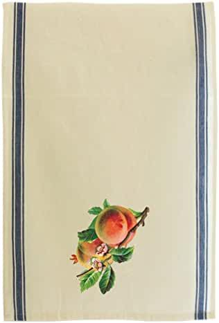 Peach Fruit Style 3 Cotton Retro Stripe Dish Kitchen Towel Blue Stripe