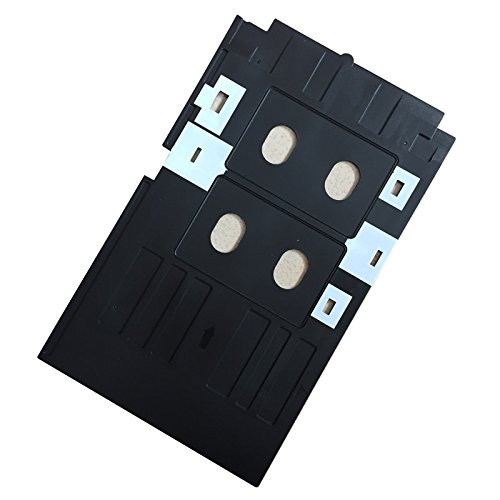100 Pcs Glossy Pvc Card And 1 Pcs Card Tray For Epson R260 R265 R270 R280 R290 R380 R390 Rx680 T50 T60 A50 P50 L800 L801 R330 Office Electronics