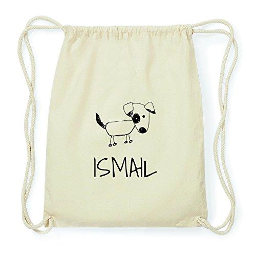 JOllipets ISMAIL Hipster Turnbeutel Tasche Rucksack aus Baumwolle Design: Hund
