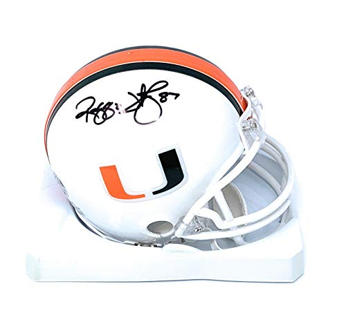 Reggie Wayne Miami Hurricanes Signed Autograph Mini Helmet Full Name Wayne Player Hologram Certified from Mister Mancave