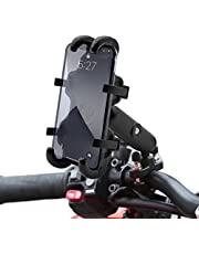 Motorcycle Handlebar Phone Holder, Bicycle Phone Holder, Aluminum Alloy Material, Sturdy and Durable. Suitable for Bicycles, Motorcycles, Indoor Treadmills, and Off-Road Vehicle Handlebars.