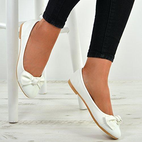 Cucu Tasaisella Luistaa Dolly Baletti Muodin Valkoinen Kengät Naisten Alhaiset Ballerinat Patenttia Uusi Korot Pumput Naisten nZfZrvFXWq