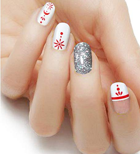 Express Manicure Nail Laquer Strips 'Patriotic' Non-toxic Self Adhesive